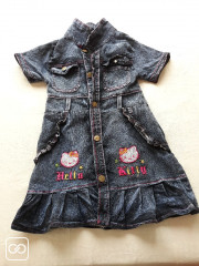 ROBE EN JEAN - HELLO KITTY - 6 ANS