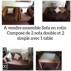 SET DE SOFA EXTÉRIEUR - 4 PLACES & TABLE BASSE