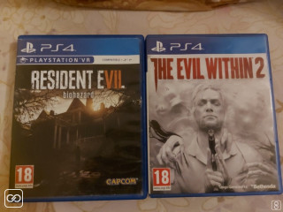 JEU PS4 - RESIDENT EVIL & THE EVIL WITHIN 2
