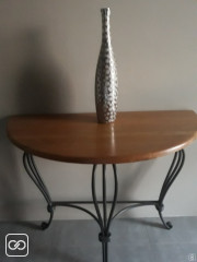 TABLE DE CONSOLE DEMI-LUNE