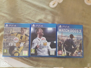3 JEUX PLAYSTATION 4 - FIFA 17/18 - WATCHDOGS 2
